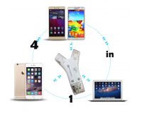 Картридер SD/MicroSD переходник Ligthning, Type-C, MicroUSB, OTG