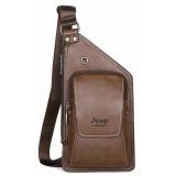 Jeep Buluo Мужская сумка через плече, цвет: коричневый