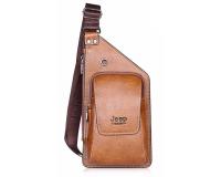 Jeep Buluo Мужская сумка через плече, цвет: светло-коричневый