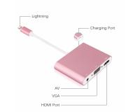 Конвертер-переходник Ligthing-HDMI-VGA+Audio