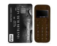 Мини-телефон кнопочный SOYES M11, коричневое дерево