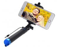 Проводная селфи-палка монопод Selfie Stick 78 см синий