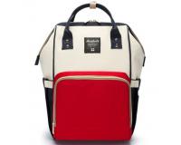 Умный рюкзак для мам Maitedi красно-бело-синий