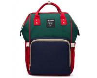 Умный рюкзак для мам Maitedi сине-зелено-красный