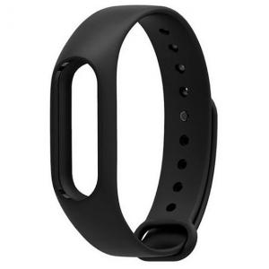 Сменный силиконовый ремешок для Фитнес-Браслета Xiaomi Mi Band 2 черный