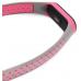 Сменный силиконовый ремешок для Фитнес-Браслета Xiaomi Mi Band 3 серый/розовый