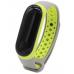Сменный силиконовый ремешок для Фитнес-Браслета Xiaomi Mi Band 3 серый/зеленый