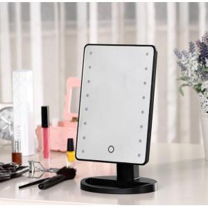 Косметическое зеркало с подсветкой Large LED Mirror черное