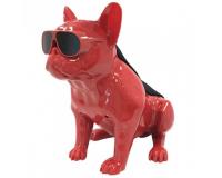Колонка эстетическая French Bulldog Wireless Bluetooth Speaker, Red