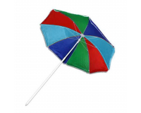 Пляжный складной зонт купол 180 см, высота 200 см, радужный