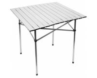 Стол алюминиевый cкладной реечный, 75х75 см