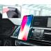 Универсальный автомобильный держатель Hoco CA32 Platinum infrared с функцией автоматической фиксации телефона, Черный