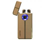 Зажигалка электроимпульсная USB Cheng Dong Cheng, Gold