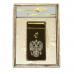 Электроимпульсная Зажигалка Cheng Dong Cheng Герб России, Gold