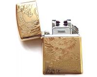 Зажигалка электроимпульсная USB Lighter Eagle Gold (Дракон)