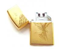 Зажигалка электроимпульсная USB Lighter Eagle Gold (Орел)