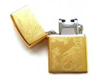 Зажигалка электроимпульсная USB Lighter Eagle Gold (Павлин)