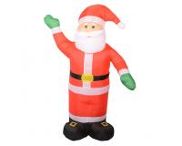 """Надувная 3D фигура с подсветкой """"Дед Мороз"""" 180 см с встроенным компрессором"""