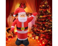 """Надувная 3D фигура с подсветкой """"Дед Мороз"""" 240 см с встроенным компрессором"""