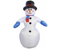 """Надувная 3D фигура """"Снеговик с шарфом"""" 210 см с встроенным компрессором"""