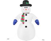 """Надувная 3D фигура """"Снеговик с шарфом"""" 240 см с встроенным компрессором"""