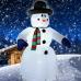 """Надувная 3D фигура """"Снеговик с шарфом"""" 180 см с встроенным компрессором для надува"""
