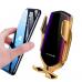 Держатель для телефонов Smart Sensor R1 автоматический с беспроводной зарядкой, золотой