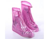 Чехлы пончи для обуви от дождя и грязи с подошвой размер M (Розовый)