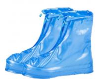 Чехлы пончи для обуви от дождя и грязи с подошвой размер 3XL (Синий)
