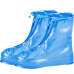 Защитные многоразовые чехлы пончи с подошвой для обуви от дождя и грязи размер 3XL (Синий)