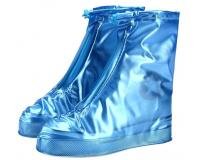 Чехлы пончи для обуви от дождя и грязи с подошвой размер XL (Синий)