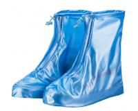 Чехлы пончи для обуви от дождя и грязи с подошвой размер L (Синий)