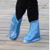 Защитные многоразовые чехлы пончи с подошвой для обуви от дождя и грязи размер L (Синий)