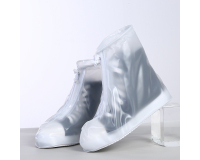 Чехлы пончи для обуви от дождя и грязи с подошвой размер XL (Белый)