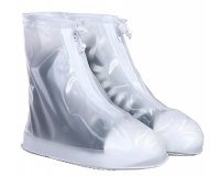 Чехлы пончи для обуви от дождя и грязи с подошвой размер 3XL (Белый)