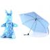 Детский мини зонтик в чехле игрушке Кролик, голубой