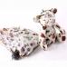 Детский мини зонтик в чехле игрушке Медвежонок, белый