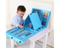 Художественный набор для рисования Super Mega Art Set 208 предметов с мольбертом, голубой