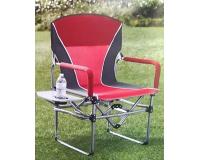 Кресло складное туристическое со столиком Director's Chair, красный