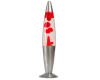 Лава-лампа 41см Красная/Прозрачная (Воск)