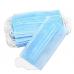 Маска защитная медицинская трехслойная на резинке, 50 шт, голубая