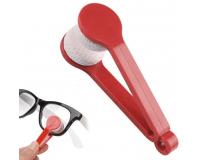 Щёточка из микрофибры для чистки очков Essential BANGDI, красный