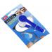 Устройство для чистки стекол очков с кольцом для ключей Essential BANGDI, синий