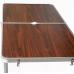 Стол со складными ножками для кемпинга (походный) + 4 стула, размер стола 120х60х55-70 см (коричневый)