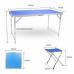 Стол со складными ножками для кемпинга (походный) + 4 стула, размер стола 120х60х55-70 см (синий)