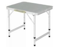 Стол туристический cкладной 60х45х50-65 см, серый