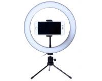 Светодиодная кольцевая лампа 26 см с держателям для смартфона
