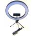 Кольцевая светодиодная круглая настольная лампа 26 см с держателем для смартфона