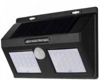 Светодиодный уличный фонарь на солнечной батарее Solar Motion 40 LED, черный
