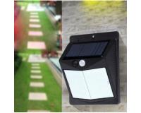 Светодиодный уличный фонарь на солнечной батарее Solar Powered 40 LED, черный